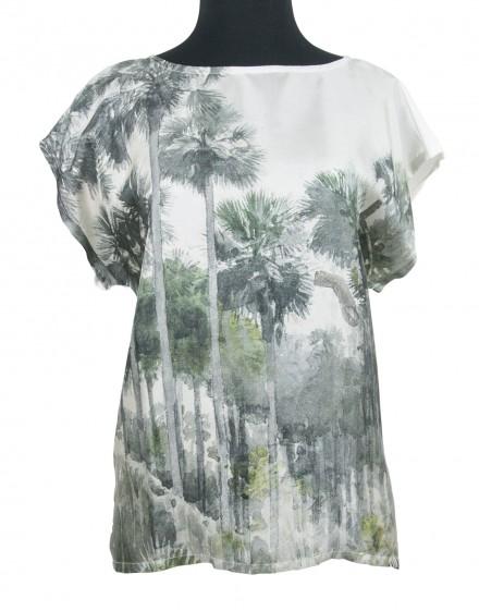 Blusa de seda y algodón - Florida Homosassa