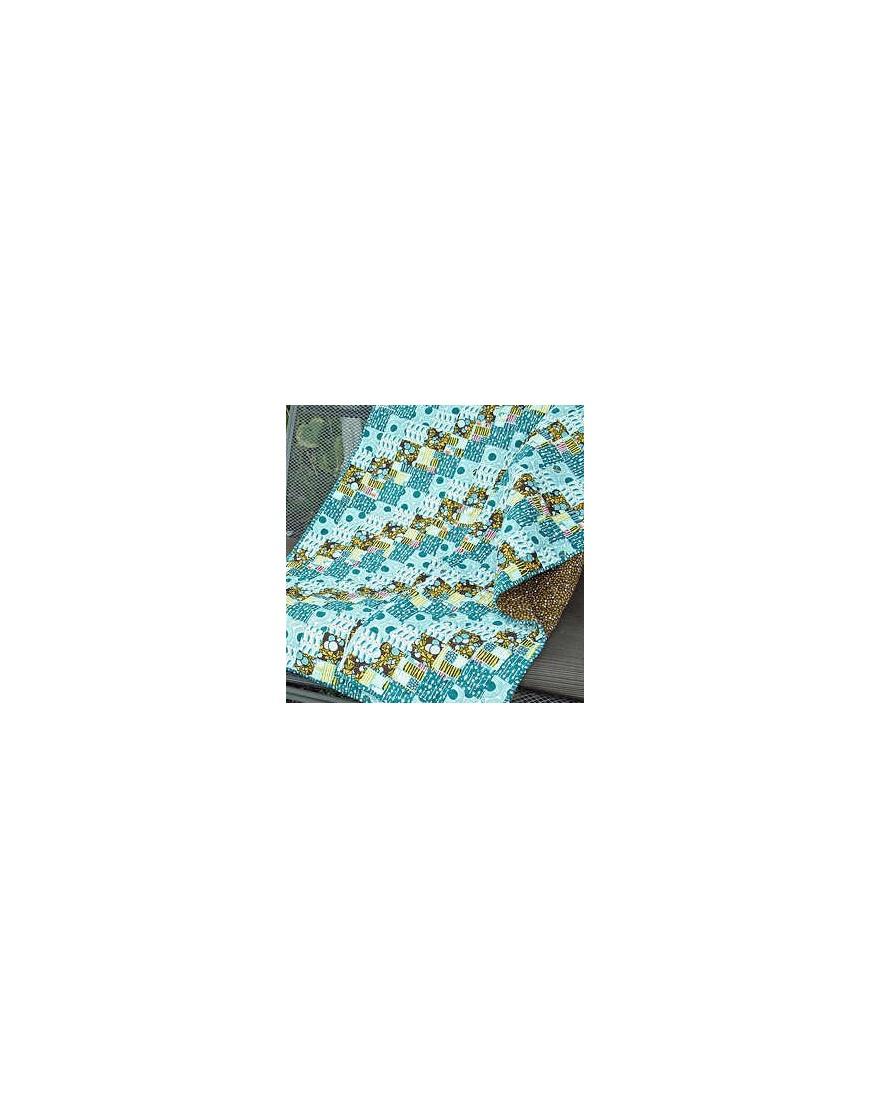 > tela ecológica across the pond lotus sky de cloud9 fabrics