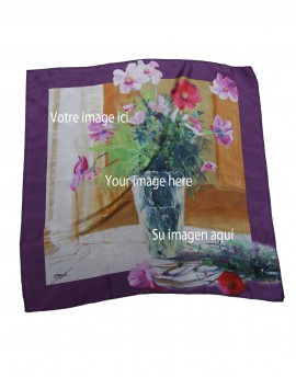 Carré en soie personnalisé 68x68 cm