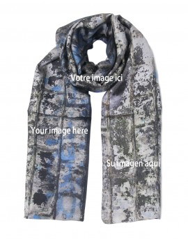 "Custom printed man silk scarf 22x180 cm (8.5x70"")"