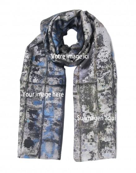 "Bespoke silk scarf 45x180 cm (17x70"")"