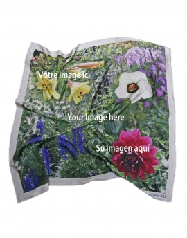 "Bespoke printed silk scarf 90x90 cm (35x35"")"
