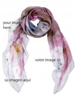 "Extra large bespoke square silk scarf 120x120 cm (47x47"")"