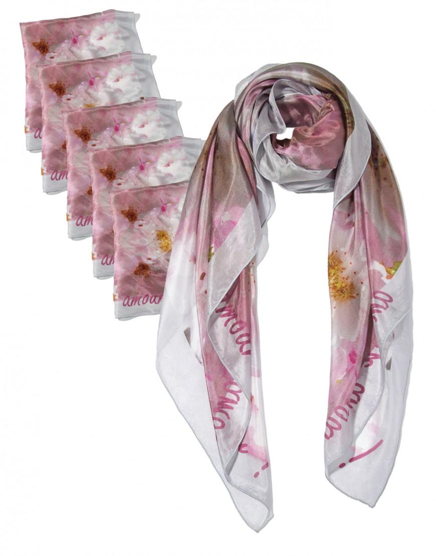 Lote de 6 pañuelos de seda 120x120 cm estampado a medida - Fibra ... 3ec95591a347