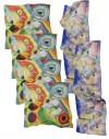 Lot 6 foulards en soie personnalisés - 4 carrés 90x90 et 2 foulard 45x180