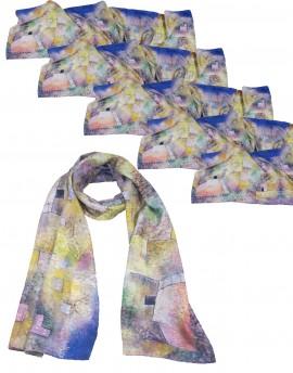 Lote 6 fulares de seda personalizados