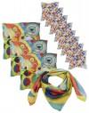 Lot 12 foulards en soie personnalsiés 90x90 et 45x45 cm