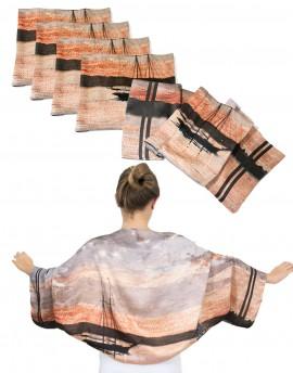 Lote 6 estolas-boleros de seda personalizados