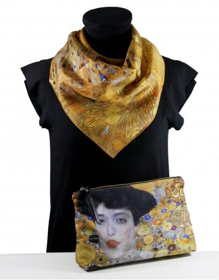 Silk scarf + clutch Klimt Adèle Bloch-Bauer