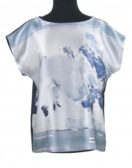 Blusa de seda - Glaciar