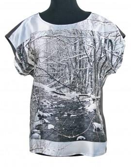 Blusa de seda - Nieve