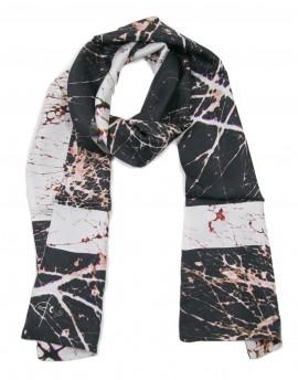 Men silk scarf positive-negative
