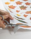 Quilt kit linen table runner Autumn leaves