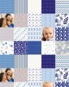 Custom printed photo fabric panel 12x12 cm (4,7x4,7'')
