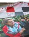 """Customised Wallhanging Quilt Kit """"Portrait with triangles"""""""