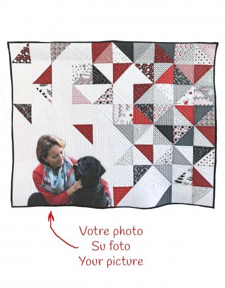 """Kit de patchwork personlizado """"Retrato con triángulos"""""""