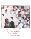 "Customised Wallhanging Quilt Kit ""Portrait with triangles"""