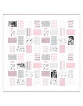 Kit de patchwork personalizado colcha infantil con 12 fotos y nombre
