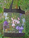 Kit Sac en Lin fleuri Iris Fuscia lin noir