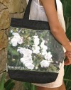 Kit Linen Tote Bag with Flowers