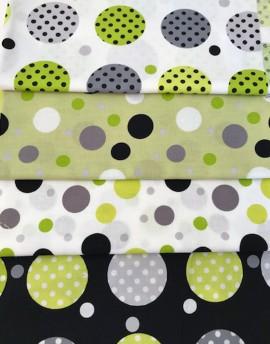 Tela de algodón Contempo Dots de Kensignton - 4 estampados, 2 metros