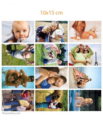 Votre panneau de photos imprimées sur toile de coton - 12 photos de 10x15 cm