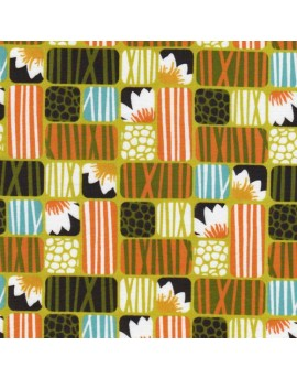 Organic fabric Across the Pond Lotus Grass by Cloud9 Fabrics