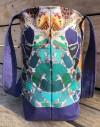 Cut and Sew Tote Bag Gaudi Modernist mosaic in blue