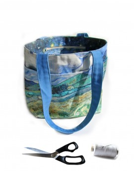 Cut and Sew Tote Bag Van Gogh Provence landscape and Olive trees
