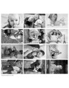 Custom printed photo panel on cotton quilting fabric - 12 photos 10x15 cm