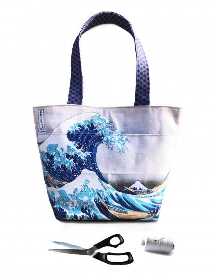 Kit Bolso tote estampado Hokusai La Gran Ola de Kanagawa