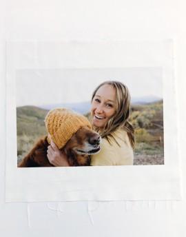 Photo printed on fabric
