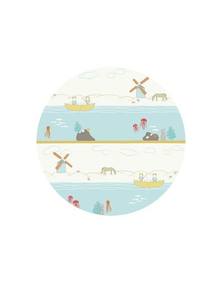 Organic children fabric Shoreline by Birch Fabrics