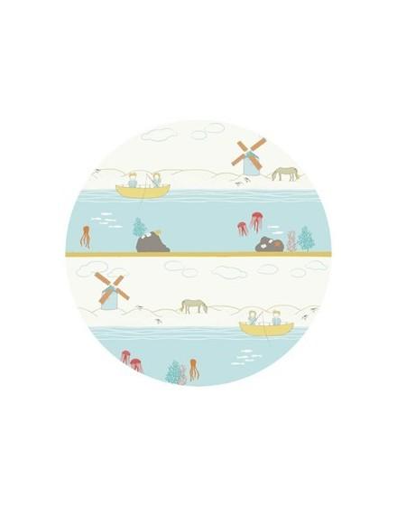 Tela ecológica infantil Shoreline de Birch Fabrics