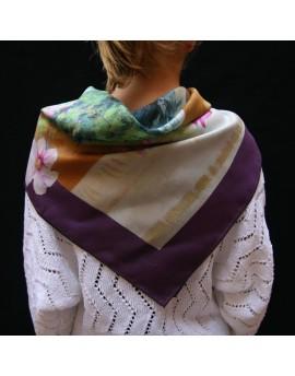 """2x Bespoke silk scarf 68x68 cm (27x27"""")"""