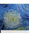Coupon lin imprimé Nuit étoilée Van Gogh