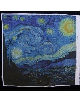 Lino estampado Van Gogh - Noche Estrellada