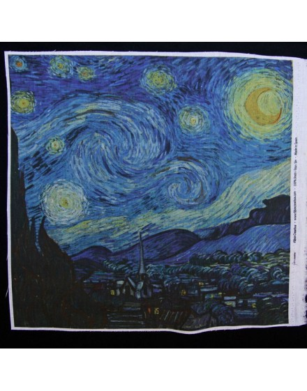 Precut linen print, Starry Night