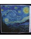Retal de lino estampado Noche Estrellada de van Gogh