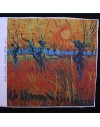 Precut linen print, Van Gogh Willows at Sunset