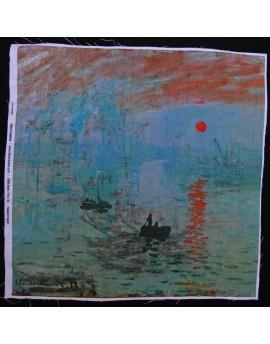 Lin imprimé Monet - Impression au soleil levant