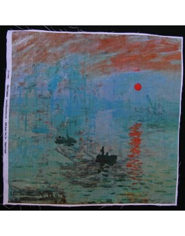 Linen print, Monet - Impression Sunrise