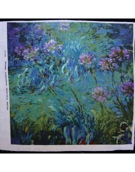 Linen print, Monet - Agapanthus