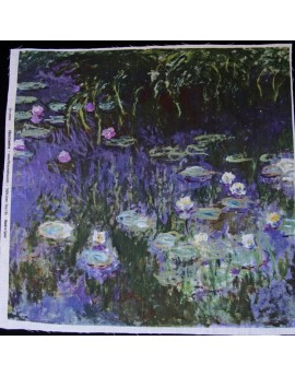 Linen print, Monet - Nympheas
