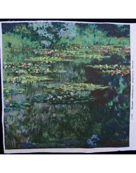 Lino estampado Monet - Estanque de nenúfares