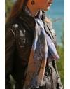 Fulard de seda 32x136 cm estampado a medida
