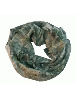 Scarf Beach Wrap en cotton voile - Florida Palmiers