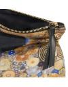 Klimt Silk clutch Woman in gold
