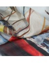 Silk neck scarf - old sailboats