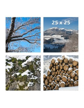 Panel de fotos impresas en tela 25x25 cm